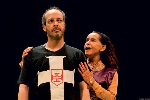 Rodrigo Fregnan e Lucélia Santos. Foto de João Caldas.